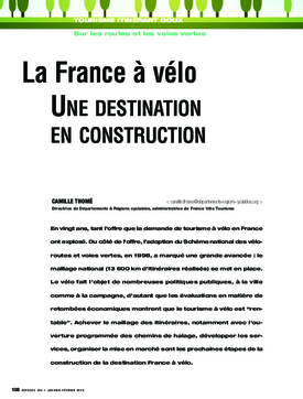 La France à vélo. Une destination en construction