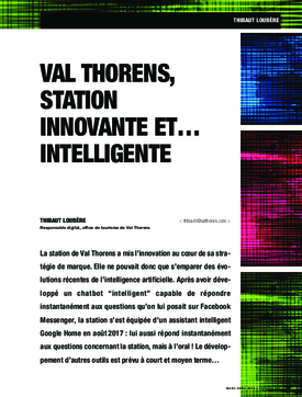 Val Thorens, station innovante et… intelligente