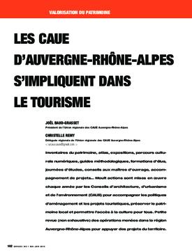 Les CAUE d'Auvergne-Rhône-Alpes s'impliquent dans le tourisme