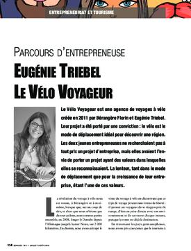 Parcours d'entrepreneuse : Eugénie Triebel, Le Vélo Voyageur