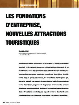 Les fondations d'entreprise, nouvelles attractions touristiques
