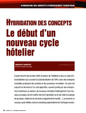 Hybridation des concepts. Le début d'un nouveau cycle hôtelier