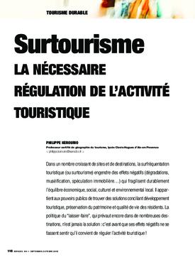 Surtourisme. La nécessaire régulation de l'activité touristique