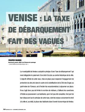 Venise : la taxe de débarquement fait des vagues