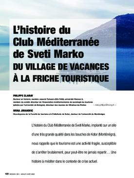 L'histoire du Club Méditerranée de Sveti Marko. Du village de vacances à la friche touristique