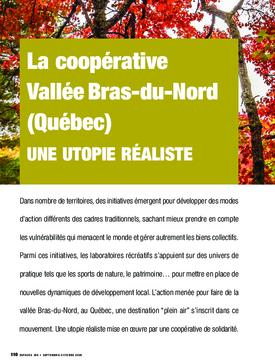 La coopérative  Vallée Bras-du-Nord (Québec). Une utopie réaliste
