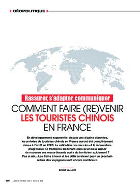 Comment faire (re)venir les touristes chinois en France