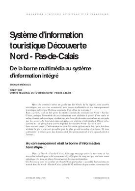 Système d'information touristique Découverte Nord - Pas de Calais