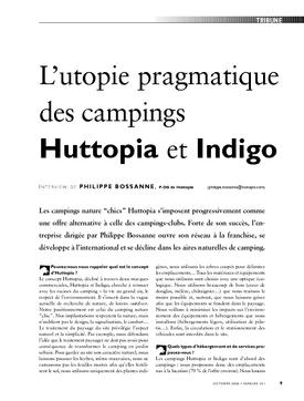 L'utopie pragmatique des campings Huttopia et Indigo