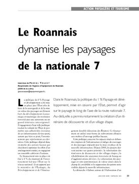 Le Roannais  dynamise les paysages de la nationale 7. Des routes pour découvrir les paysages du Roannais