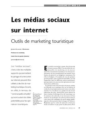 Les médias sociaux sur internet. Outils de marketing touristique