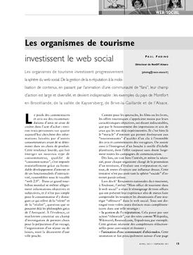 Les organismes de tourisme investissent le web social