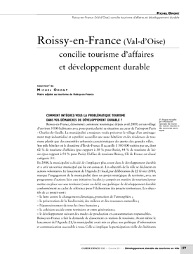 Roissy-en-France (Val-d'Oise) concilie tourisme d'affaires et développement durable