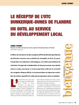Le réceptif de l'OTC Dunkerque-Dunes de Flandre. Un outil au service du développement local