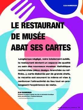 Le restaurant de musée abat ses cartes