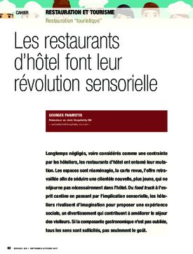 Les restaurants d'hôtel font leur révolution sensorielle