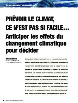 Prévoir le climat, ce n'est pas si facile… Anticiper les effets du changement climatique pour décider