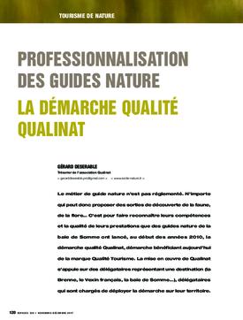Professionnalisation des guides nature. La démarche qualité Qualinat